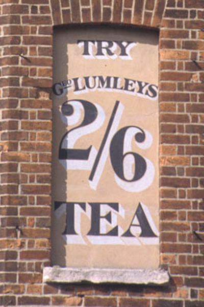 Lumleys tea advert – Walton Street, Oxford